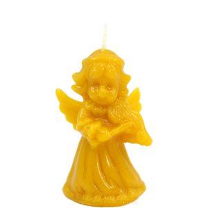 Sveča iz čebeljega voska angel z violino