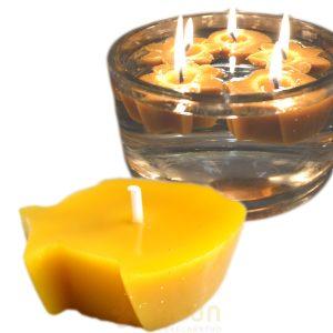 Sveča iz čebeljega voska plavajoča ribica