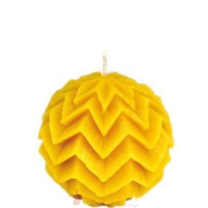 Sveča iz čebeljega voska pravljična kroglica