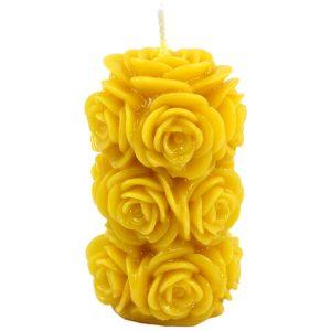 Sveča iz čebeljega voska vrtnica