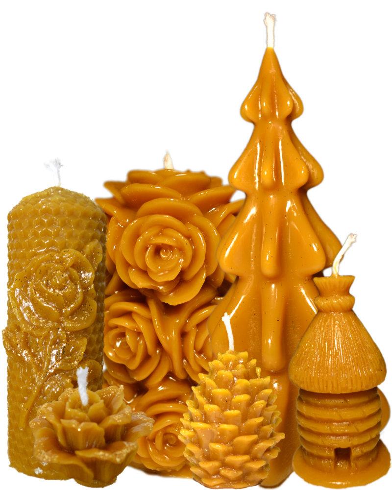 Sveče iz 100% čebeljega voska
