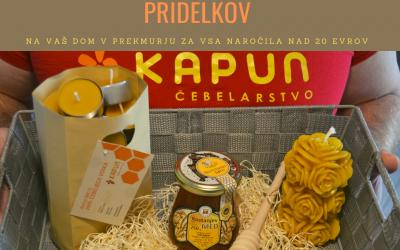 Brezplačna dostava čebeljih pridelkov v Prekmurju