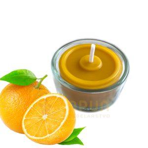 čajne sveče paket stekleni nosilec sladka pomaranča