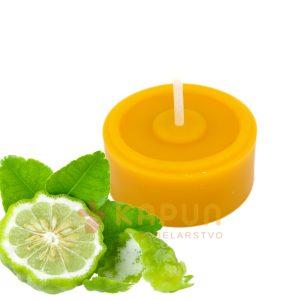 čajna sveča vosek bergamotka