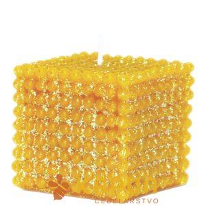 Sveča iz čebeljega voska biserna kocka